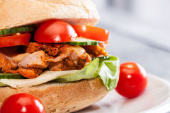 Kebab sandwich Royalty Free Stock Image