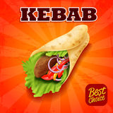 Kebab sandwich Royalty Free Stock Photos
