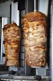 Kebab in Santorini-Insel, Griechenland stockbilder