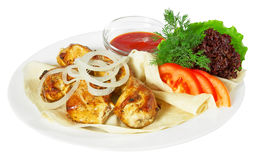 Kebab with sause Royalty Free Stock Image