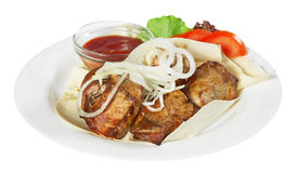 Kebab with sause Stock Image