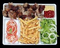 Kebab, Schnellimbiß Stockfotos