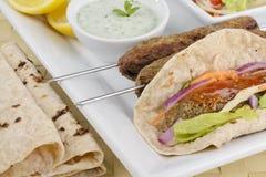 kebab seekh Στοκ φωτογραφία με δικαίωμα ελεύθερης χρήσης