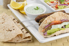 kebab seekh Στοκ Φωτογραφία