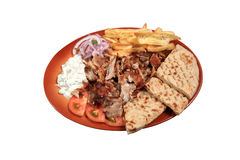 Kebab served on a plate Stock Photo