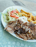Kebab. Served on plate Royalty Free Stock Image