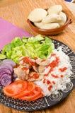 Kebab serving Stock Images