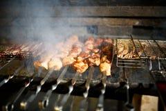 Kebab Shish зажарено в духовке на гриле стоковые изображения rf