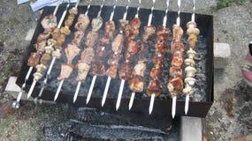 Kebab Shish на протыкальниках Стоковая Фотография RF
