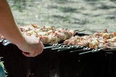 Kebab Shish на решетке Стоковые Фотографии RF