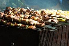 Kebab Shish на решетке Стоковые Фото