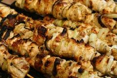 鸡kebab shish 库存照片
