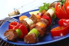 Kebab skewer Royalty Free Stock Photos