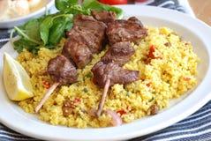 Kebab skewers Stock Photography