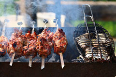 Kebab skewers barbecue Royalty Free Stock Photography