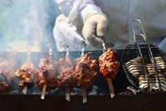 Kebab skewers barbecue Royalty Free Stock Photo
