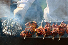 Kebab skewers barbecue Stock Photography