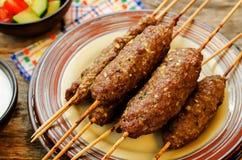 Kebab skewers. meat cutlets Stock Images