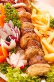 Kebab on skewers Royalty Free Stock Photos