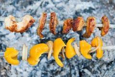 Kebab, szaszłyki Obraz Stock