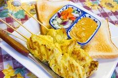 Kebab tailandés del pollo Fotos de archivo