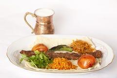 Kebab tradizionale turco Fotografia Stock Libera da Diritti
