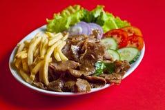 Kebab turco da placa Fotografia de Stock