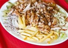 Kebab turco de la placa fotografía de archivo