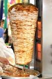 Kebab turco del doner. (doner del pollo) fotografía de archivo libre de regalías