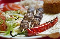 Kebab turco dello shish Fotografia Stock