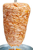 Kebab turco en blanco Fotografía de archivo