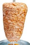 Kebab turco no branco fotografia de stock