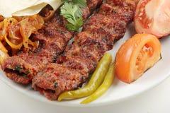 Kebab. Turkey kebab cuisine, close-up Royalty Free Stock Images