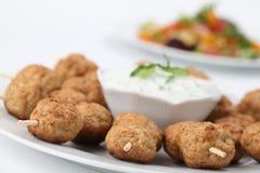 Kebab with tzatziki Stock Images