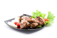 Kebab with vegetables Royalty Free Stock Image