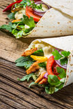 Kebab with vegetables and chicken stock image