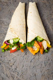 Kebab with vegetables and chicken Royalty Free Stock Photos