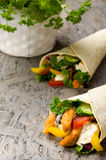 Kebab with vegetables and chicken Stock Photo