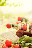 Kebab vegetal fotos de stock royalty free