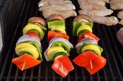 Kebab vegetal Imagen de archivo libre de regalías