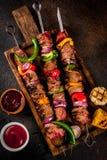 Kebab Veggie и говядины shish Стоковые Изображения