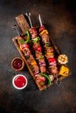 Kebab Veggie и говядины shish Стоковое Изображение