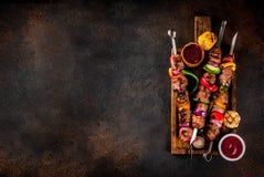 Kebab Veggie и говядины shish Стоковое Фото