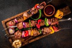 Kebab Veggie и говядины shish Стоковое Изображение RF