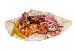 Kebab von den Schweinefleischrippen Lizenzfreies Stockbild