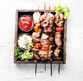 Kebab von Schweinefleisch Stockfotografie