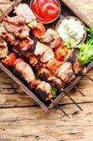 Kebab von Schweinefleisch Lizenzfreies Stockfoto