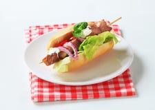 kebab wieprzowiny kanapka zdjęcia stock