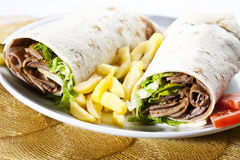 Kebab wrap stock photos
