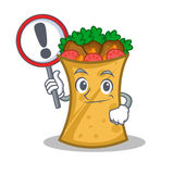 Kebab wrap character cartoon with sign. Vector illustration vector illustration